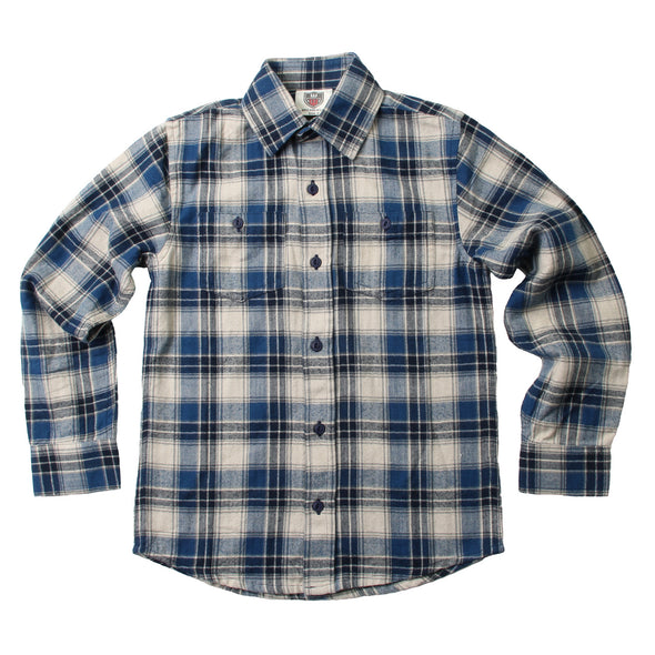 Wes & Willy Boy's Flannel Shirt-Blue Moon