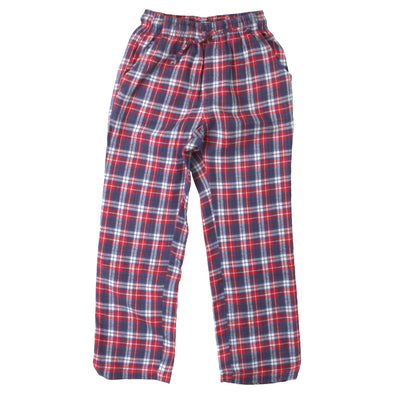 Wes & Willy Boy's Plaid Pant-White
