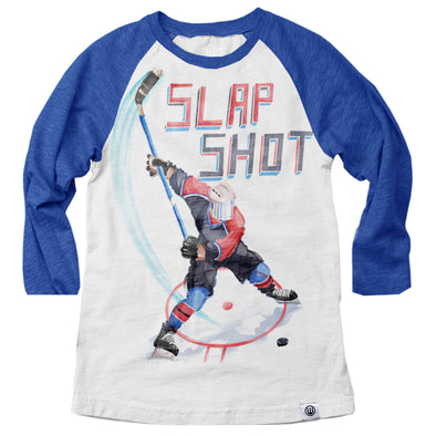Wes & Willy Boy's Slap Shot Raglan
