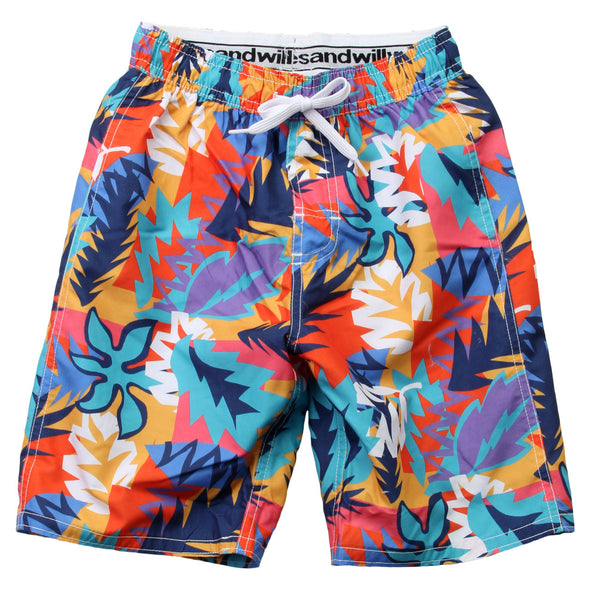 Wes & Willy Boy's Tropical Cove Swim Trunk