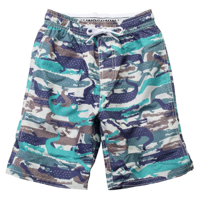 Wes & Willy Boy's Gator Camo Swim Trunks