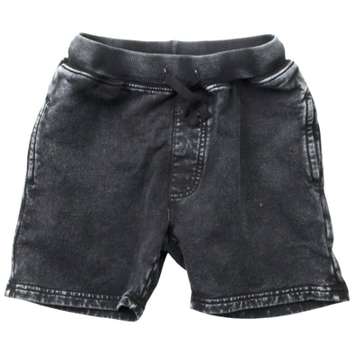 Wes & Willy Boy's Black Faded Fleece Short