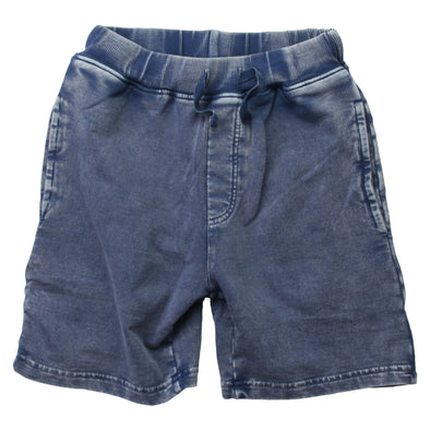 Wes & Willy Boy's Faded Wash Fleece Shorts-Navy