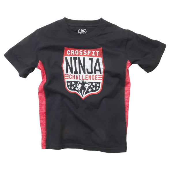 Wes & Willy Boy's Ninja Cloudy Side inset Tee