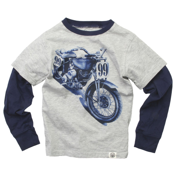 Wes & Willy Boys Motorcycle 2in1 Tee