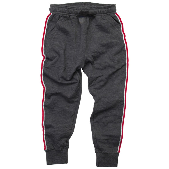 Wes & Willy Boy's Reverse Fleece Jogger-Black