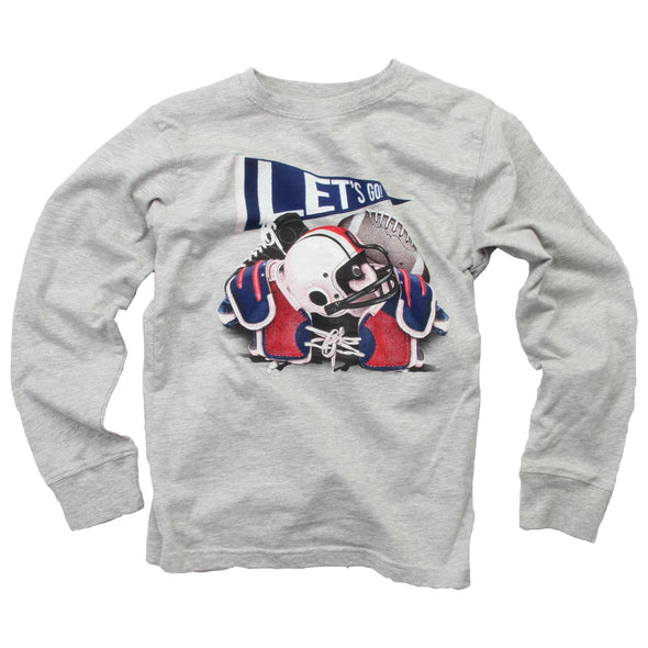 Wes & Willy Boy's Football Equipment Tee-Heather