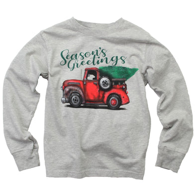 Wes & Willy Boy's Seasons Greetings Tee-Heather