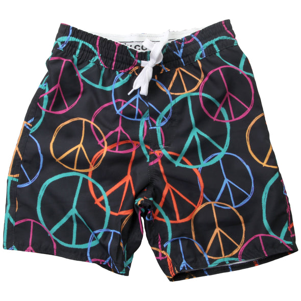Wes & Willy Boy's Peace Out Swim Trunks