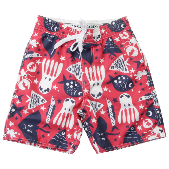Wes & Willy Boy's Under The Sea Swim Trunk