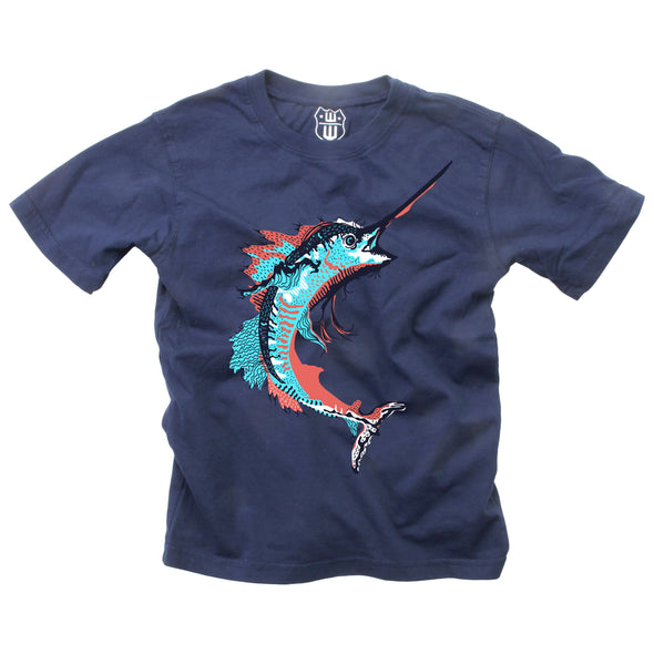 Wes & Willy Boy's Marlin Tee