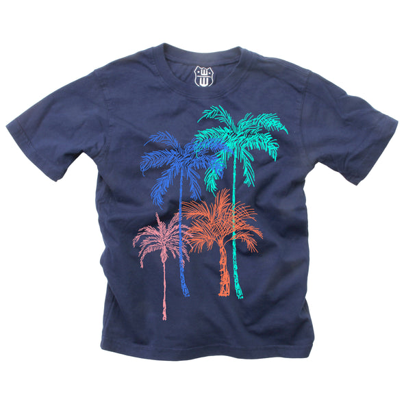 Wes & Willy Boy's Palm Trees Tee