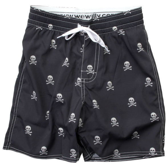 Wes & Willy Boy's Skull Swim Trunks