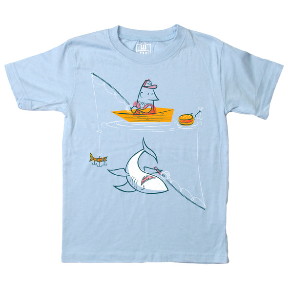Wes & Willy Boy's Shark Fishing Tee