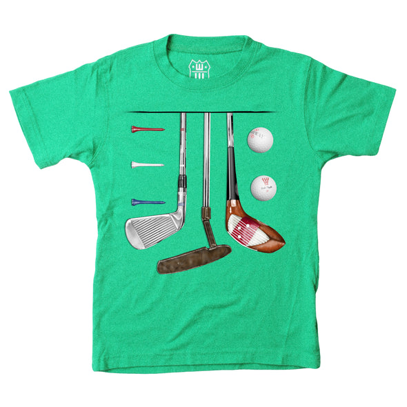 Wes & Willy Boy's Golf Tee-Green