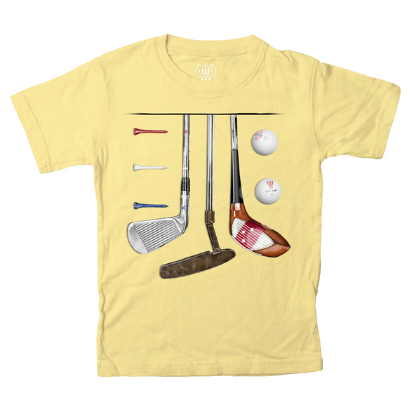 Wes & Willy Boy's Golf Tee-Yellow