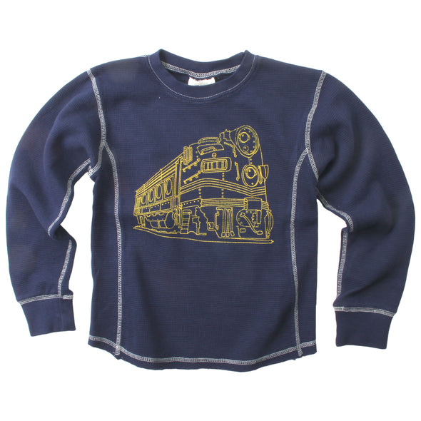Wes and Willy Boy's Thermal Train Long Sleeve Top