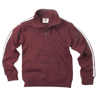 Wes and Willy 1/4 Zip Fleece Track Jacket-Maroon