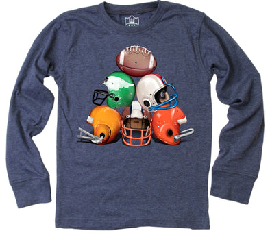 Wes and Willy Boy's Helmet Stack Long Sleeve Tee