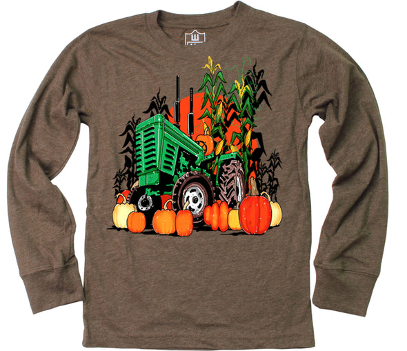 Wes and Willy  Boy's Fall Harvest Long Sleeve Tee