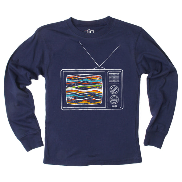 Wes and Willy Vintage TV Long Sleeve Tee