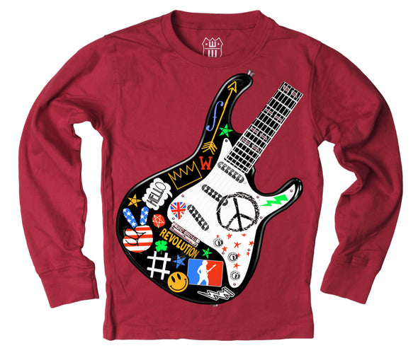 Wes and Willy Boy's Guitar Long Sleeve Tee
