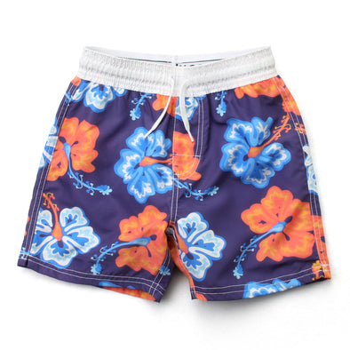 Wes and Willy Big Hibiscus Swim Trunk