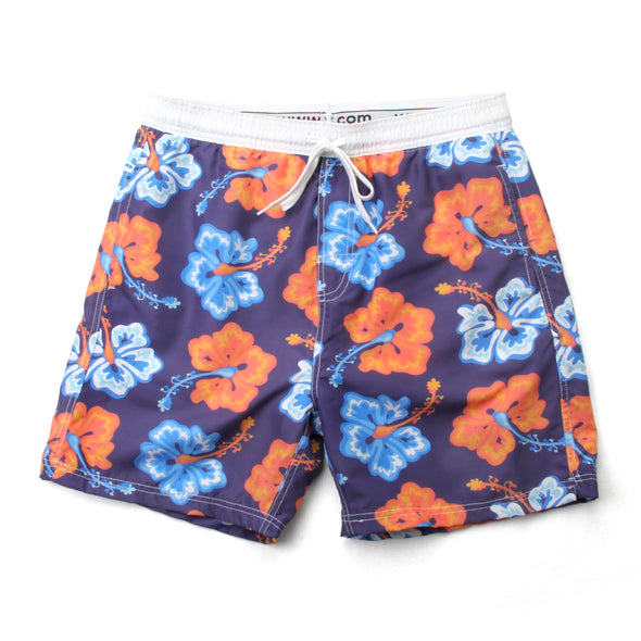 Wes and Willy Men's Hibiscus Swim Trunk