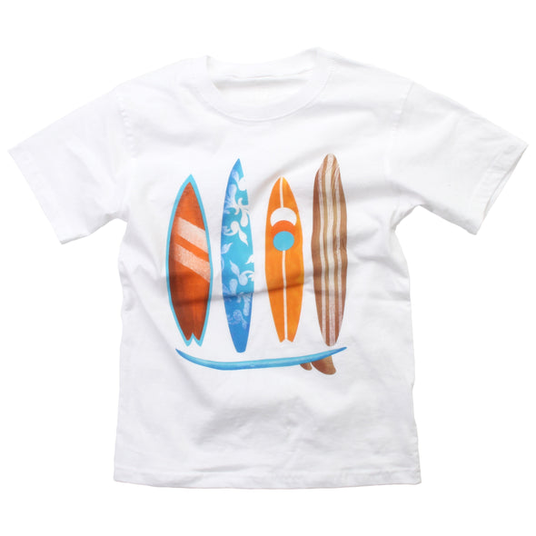 Wes and Willy Boy's Classic Surf Board Tee