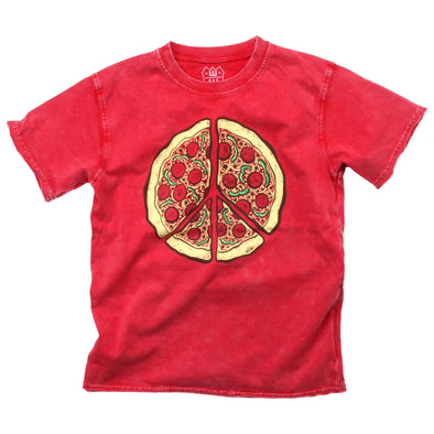 Wes and Willy Pizza Peace Faded Tee