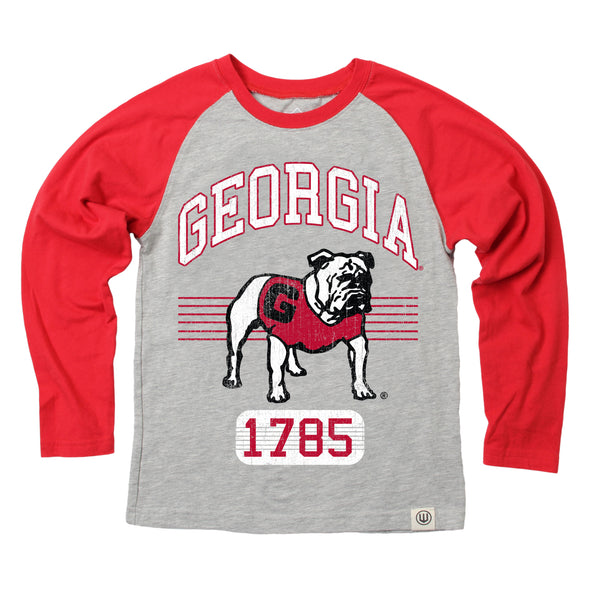 Wes & Willy Georgia Bulldogs Boy's LS Raglan