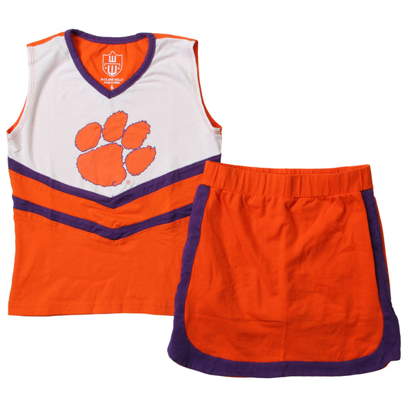 Wes & Willy Clemson Tigers Girl's Cheer Outfit