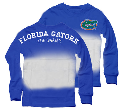 Wes & Willy Florida Gators Girl's Dip Dyed Spirit Top