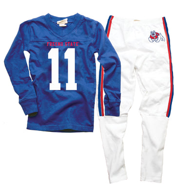 Wes & Willy Fresno State Bulldogs Football Pajamas