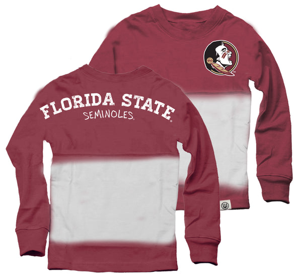 Wes & Willy Florida State Seminoles Girl's Dip Dyed Spirit Tee