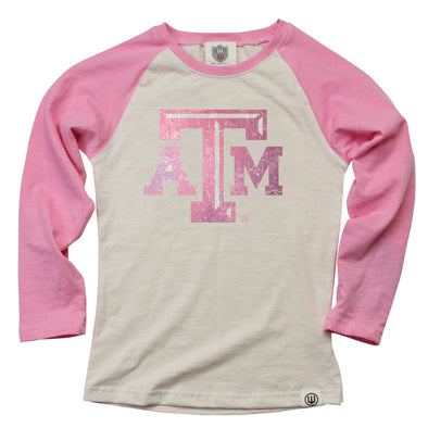 Wes & Willy Texas A&M Aggies Girl's Slub Raglan