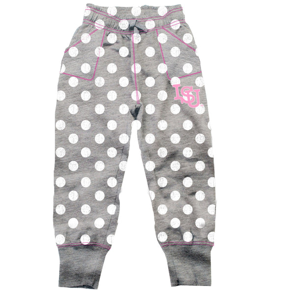 Wes & Willy Iowa State Cyclones Girl's Polka Dot Sweatpants