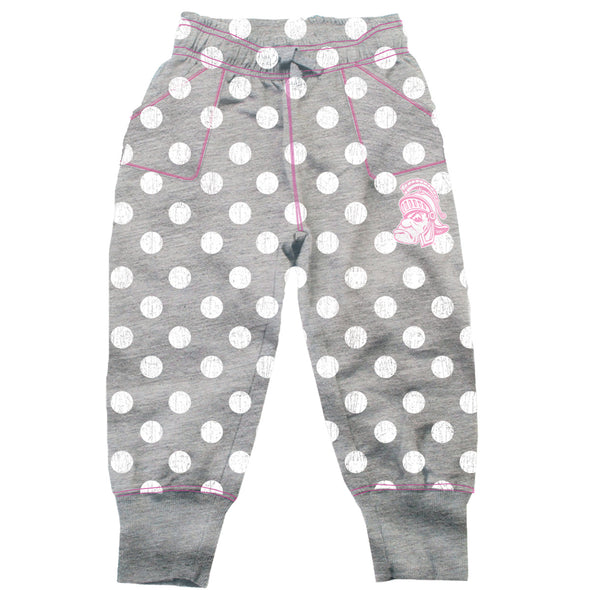Wes & Willy Michigan State Spartans Girl's Polka Dot Sweatpants