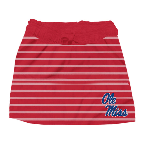 Wes & Willy Ole Miss Rebels Girl's Striped Skirt
