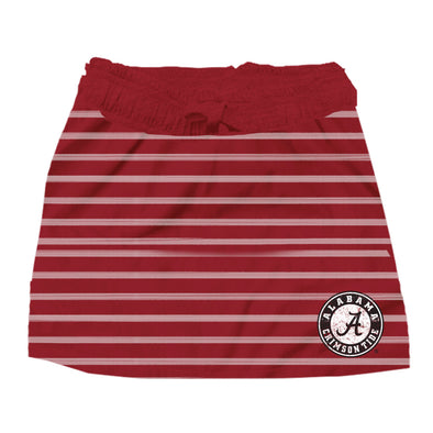 Wes & Willy Alabama Crimson Tide Girl's Striped Skirt