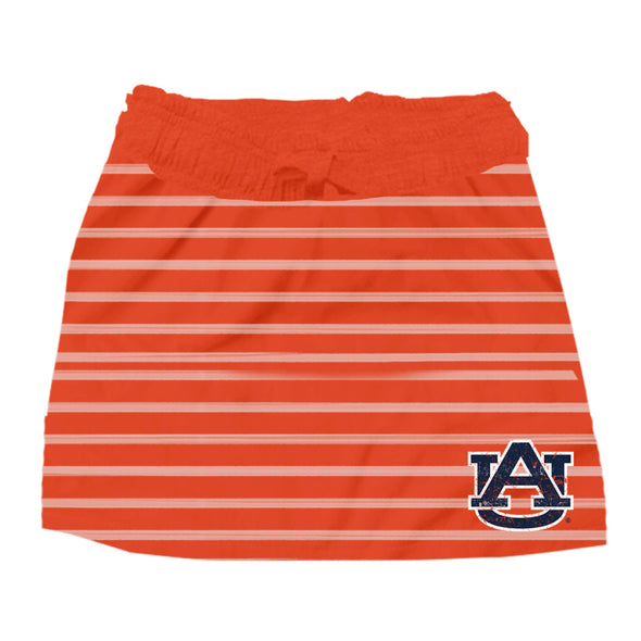 Wes & Willy Auburn Tigers Girl's Striped Skirt