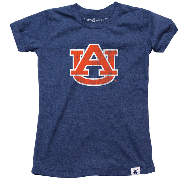 Wes & Willy Auburn Tigers Girl's Blended Tee