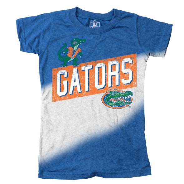 Wes & Willy Florida Gators Girl's Dip Dyed Tee