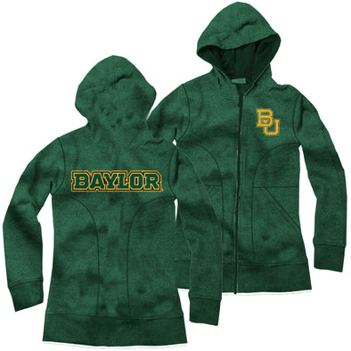 Wes & Willy Baylor Bears Girl's French Terry Zipper Hoodie