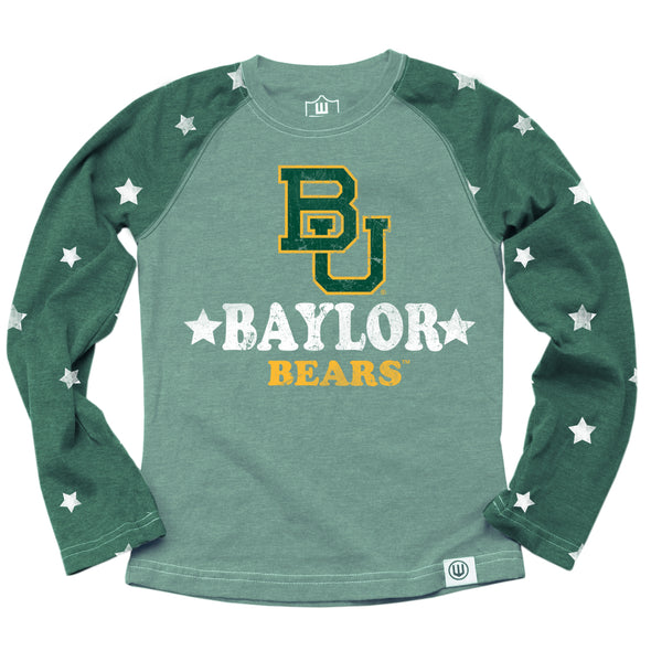 Wes & Willy Baylor Bears Girl's Star Raglan