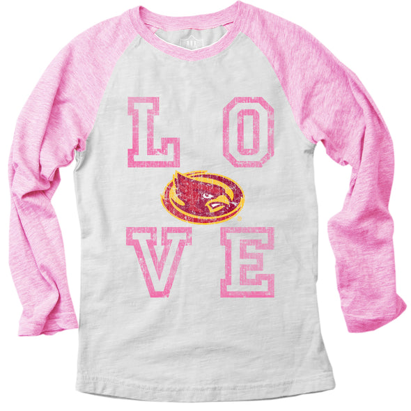 Wes & Willy Iowa State Cyclones Girl's Pink Raglan