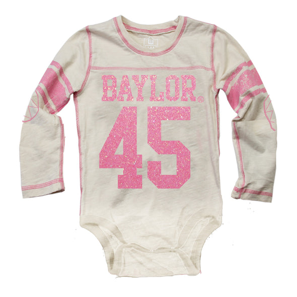 Wes & Willy Baylor Bears Girl's Jersey Bodysuit