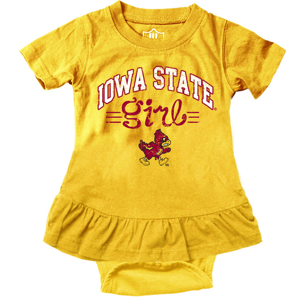 Wes & Willy Iowa State Cyclones Girl's Ruffle Bodysuit