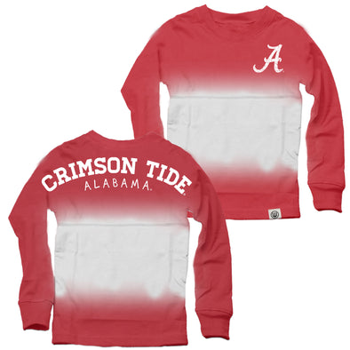 Wes & Willy Alabama Crimson Tide Girl's Dip Dyed Spirit Top