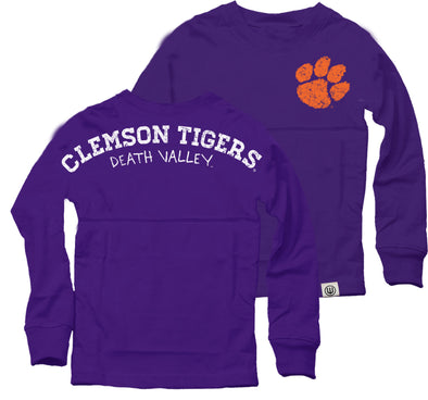 Wes & Willy Clemson Tigers Girl's Cheer Shirt-Orange